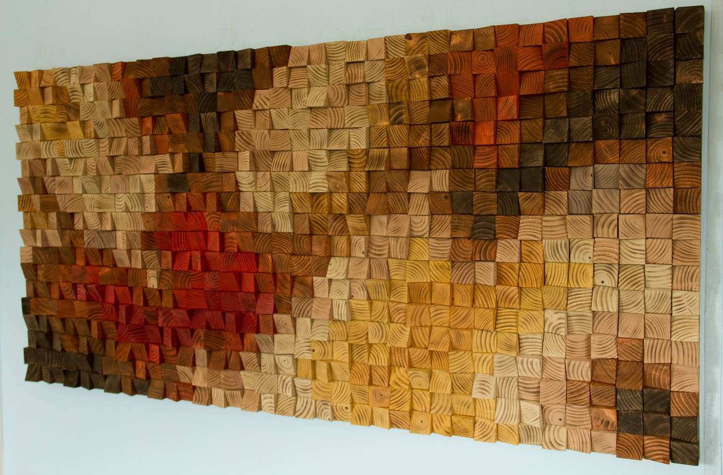 Rustic wood wall Art wood wall sculpture abstract