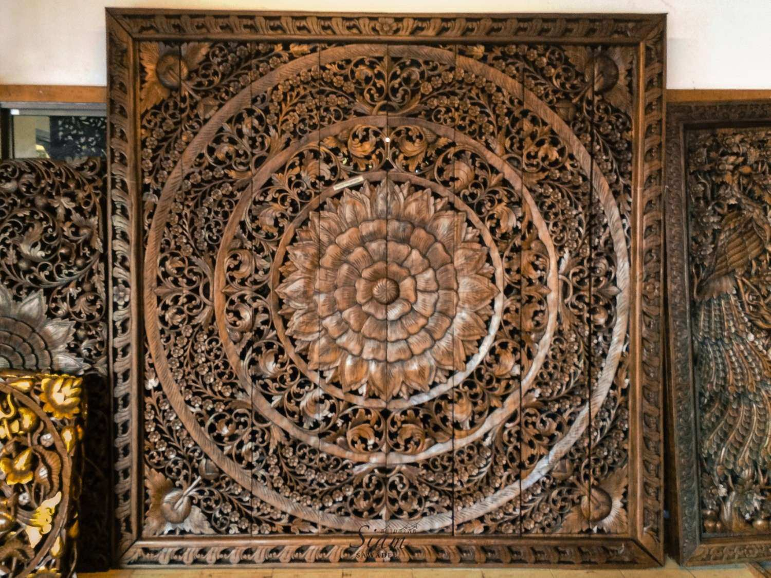 Wall Art Wood Panels Awesome Carved Wood Panel Teak Wood Wall Hanging By  Siamsawadee