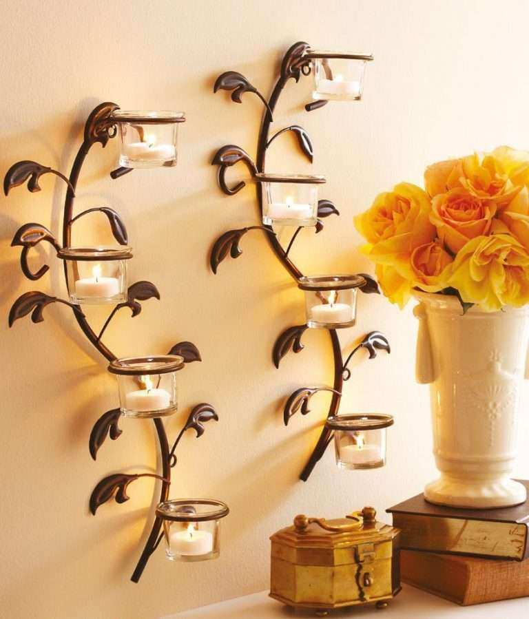Wall Candles Decor Unique Hosley Wall Sconces Glass Candle Holders ...