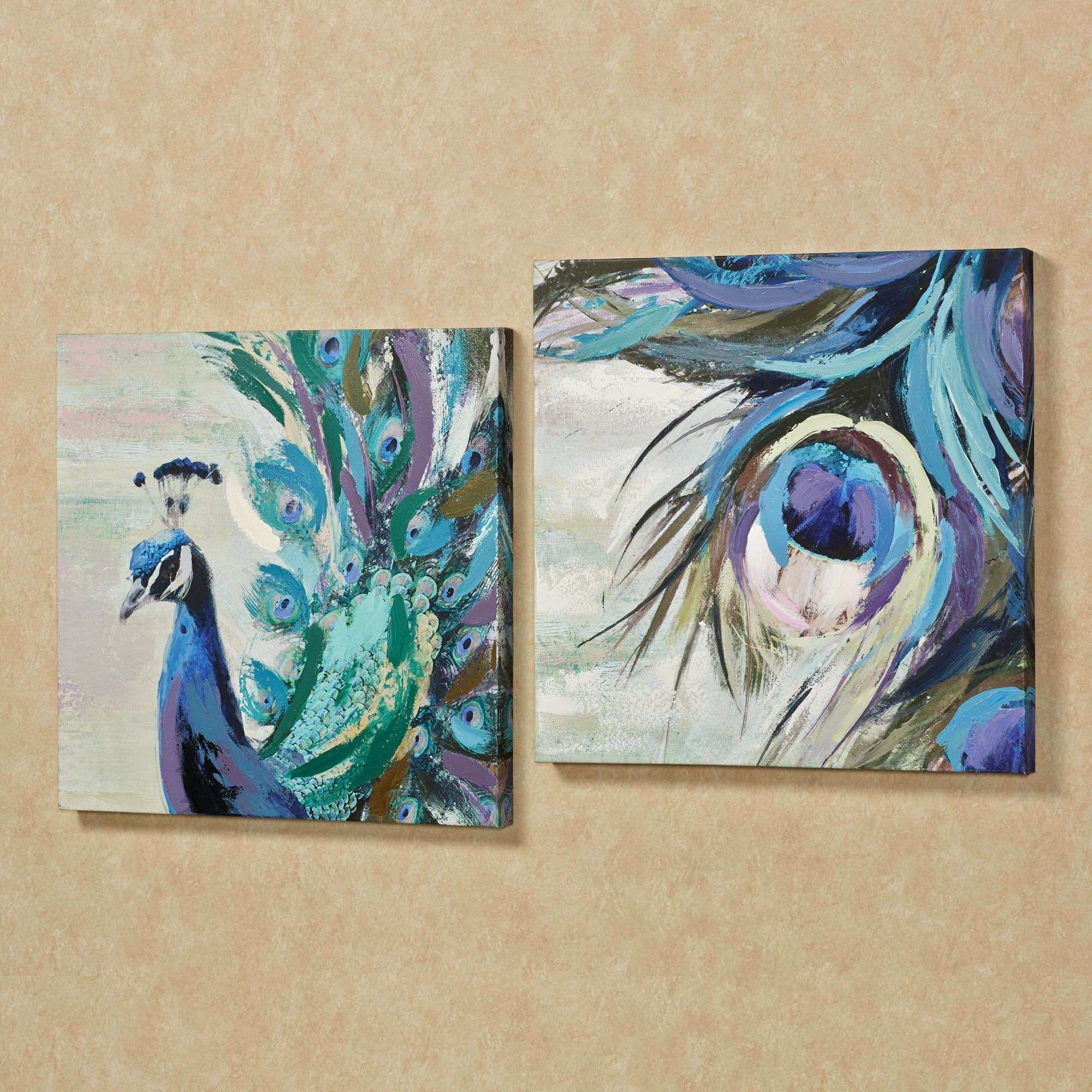 Wall Canvas Art New Wall Art Designs Peacock Wall Art Fanciful Plumes  Peacock