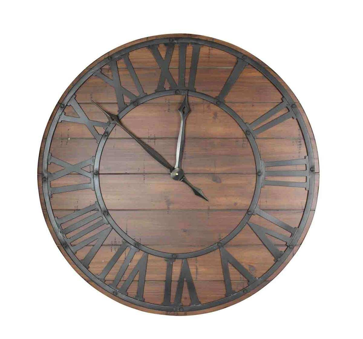 Wall Clocks Decor Inspirational Decorative Wood And Metal Wall Clock  Caravana