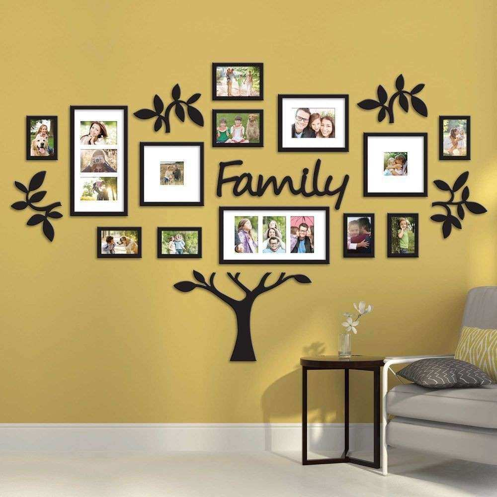 Family Tree Collage Picture Plaque Wall Art Mount