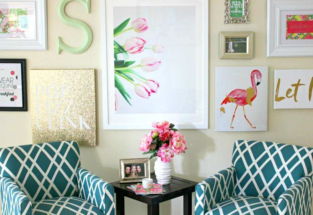 Lilly Pulitzer Inspired Wall Art Collage