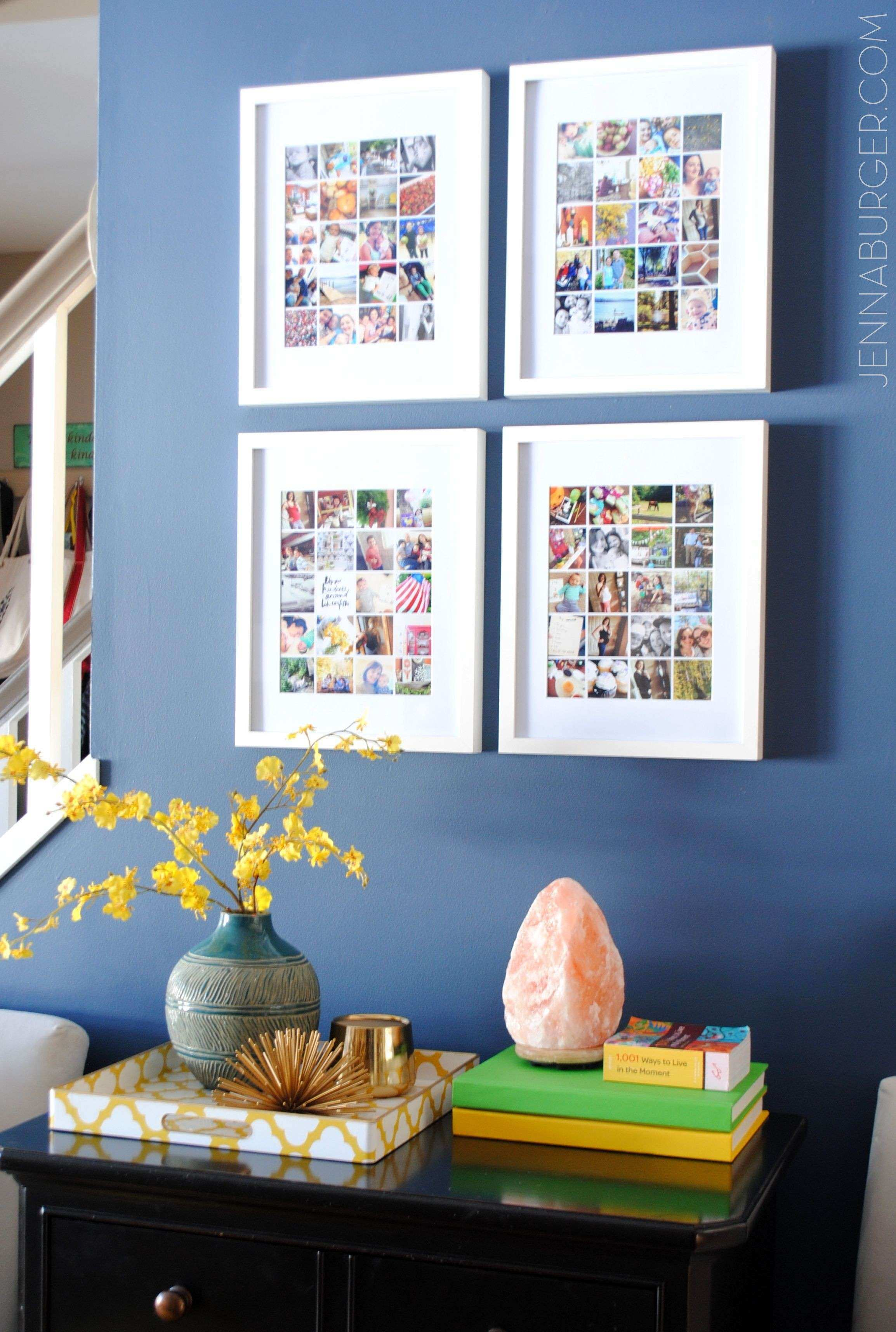Wall Collage Picture Frames Awesome Easy to Make Collage Using ...