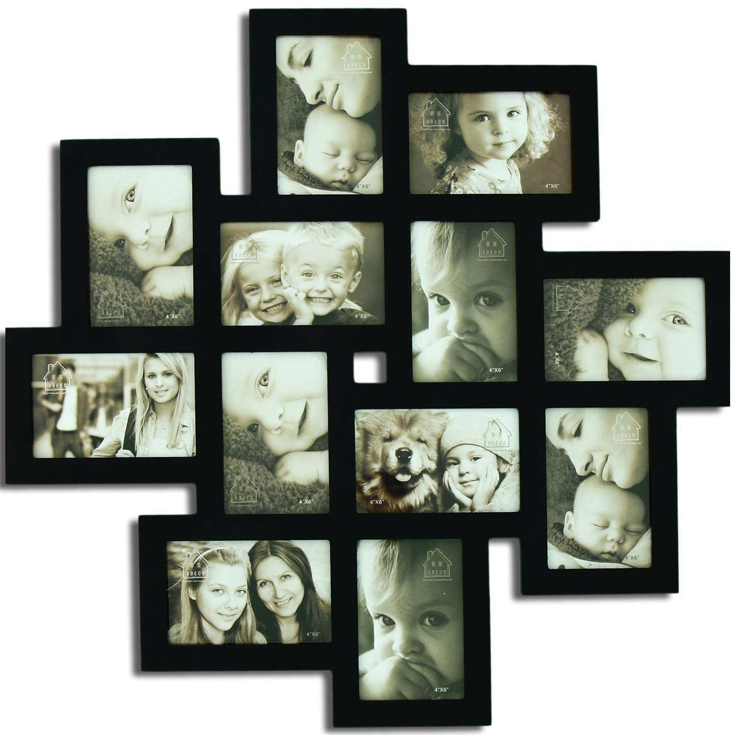 Decorating Black Wooden Collage Picture Frames For Wall Decoration