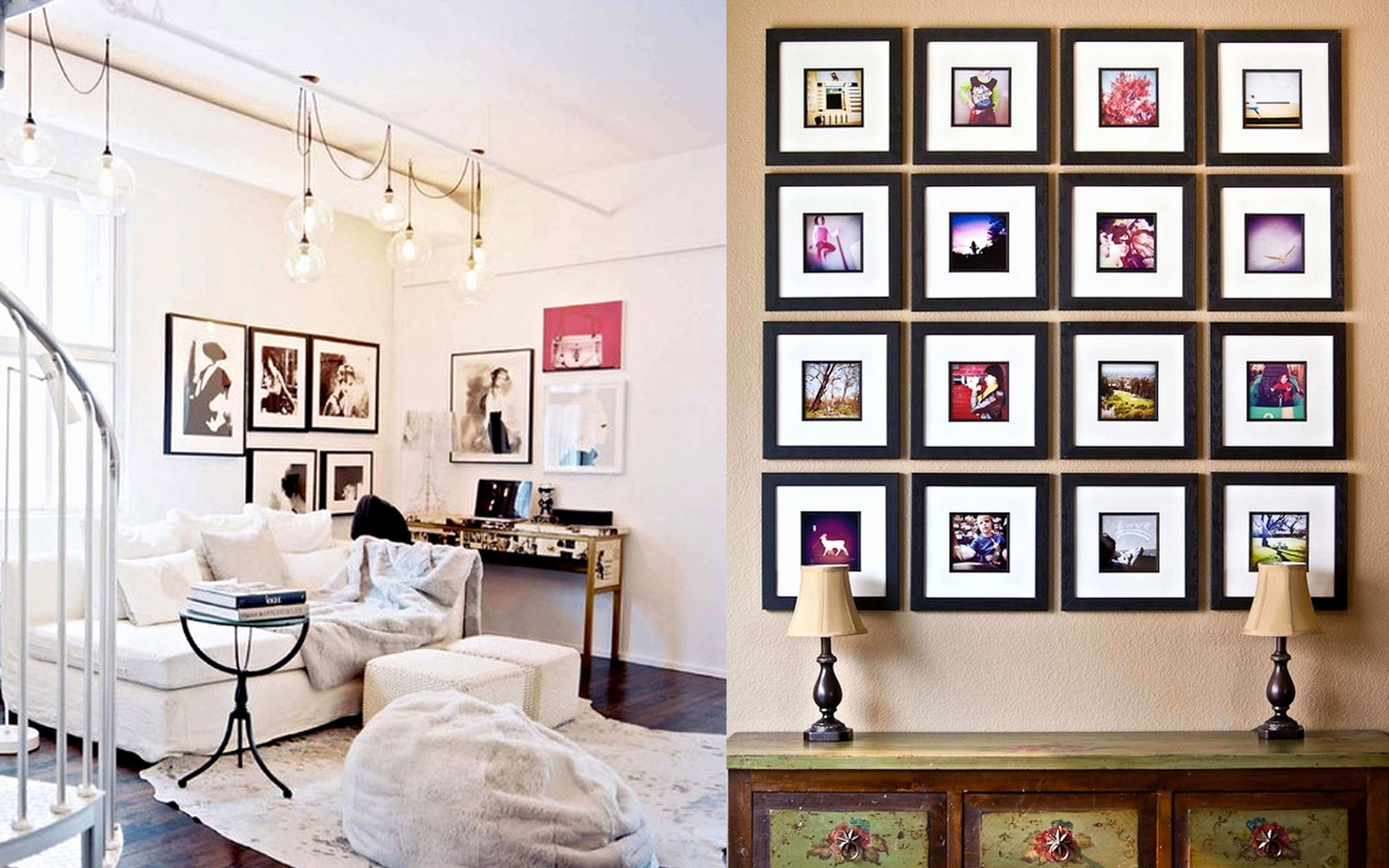 Wall Collage Picture Frames Ideas Awesome Wall Collage Ideas Living ...