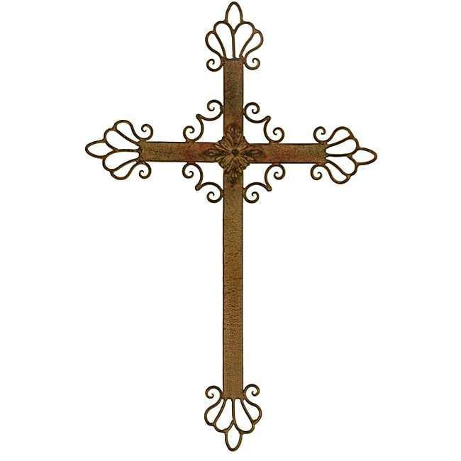 Wall Crosses Decor Awesome Wrought Iron Cross Free Shipping Orders