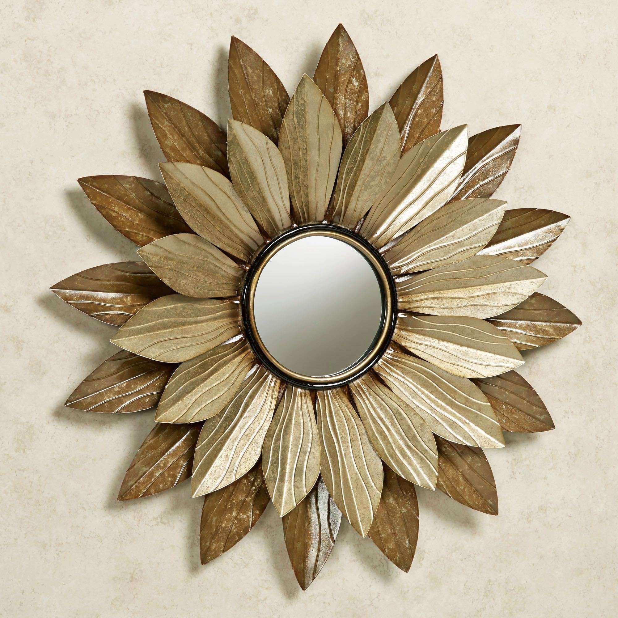 Abellina Layered Floral Mirrored Metal Wall Art