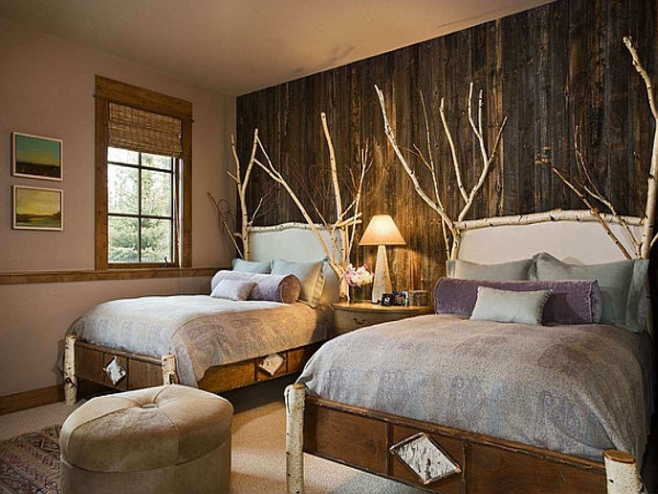 Decorating ideas for small master bedrooms rustic wood