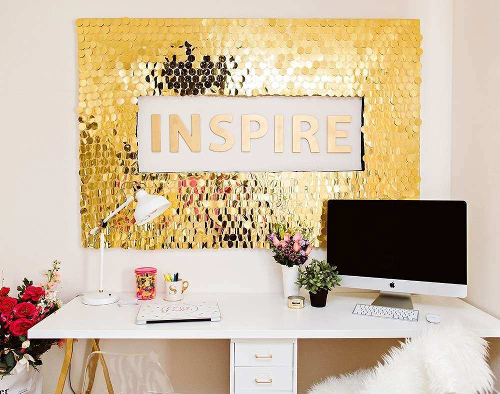 Wall Decor Diys Unique Diy Sequins Wall Art | Wall Art Ideas
