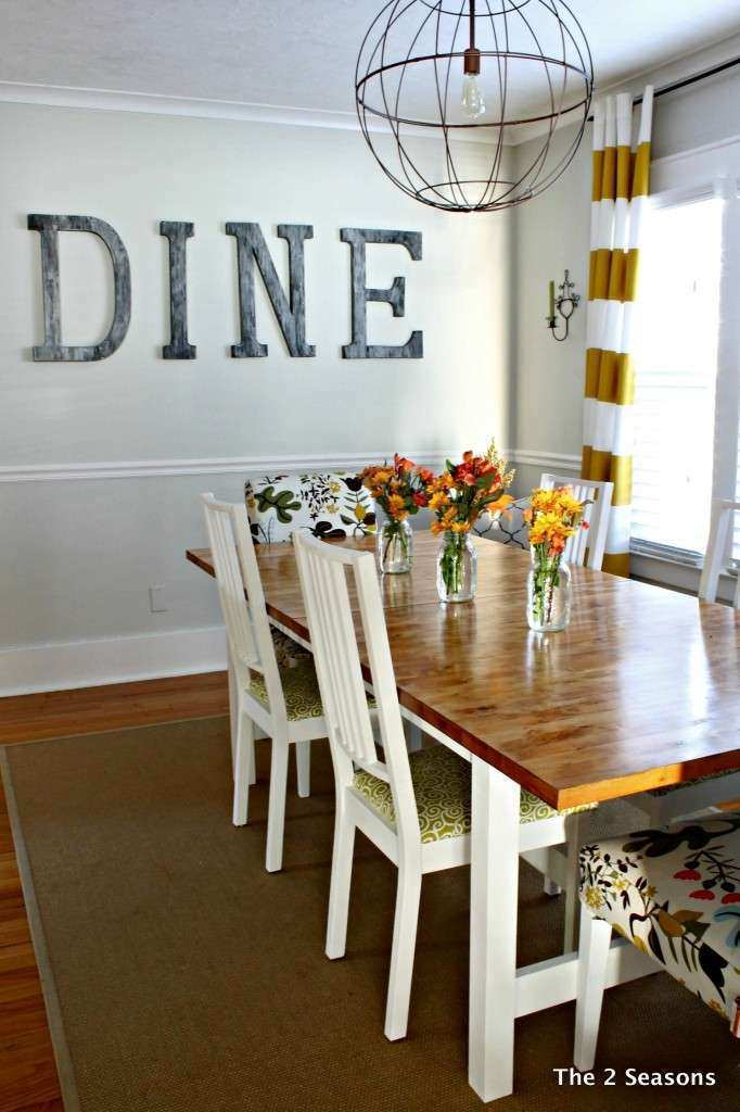 Staining A Dining Room Table Wall Decor