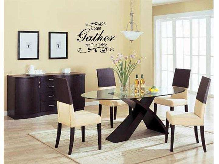 Wall Decor For Dining Room Area New E Gather At Our Table Art Decal