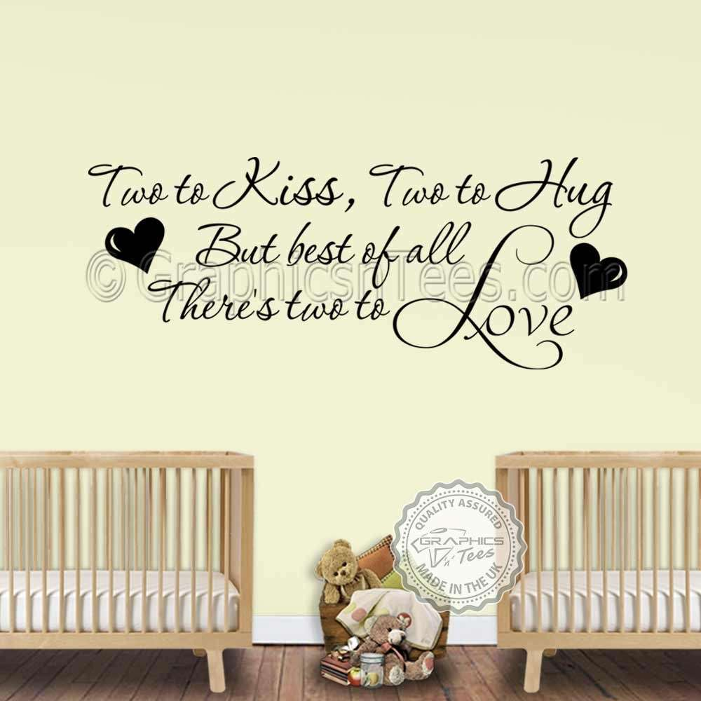 Wall Decor For Girls Bedroom Beautiful Nursery Wall Sticker For Twins Baby  Boys Girls Bedroom