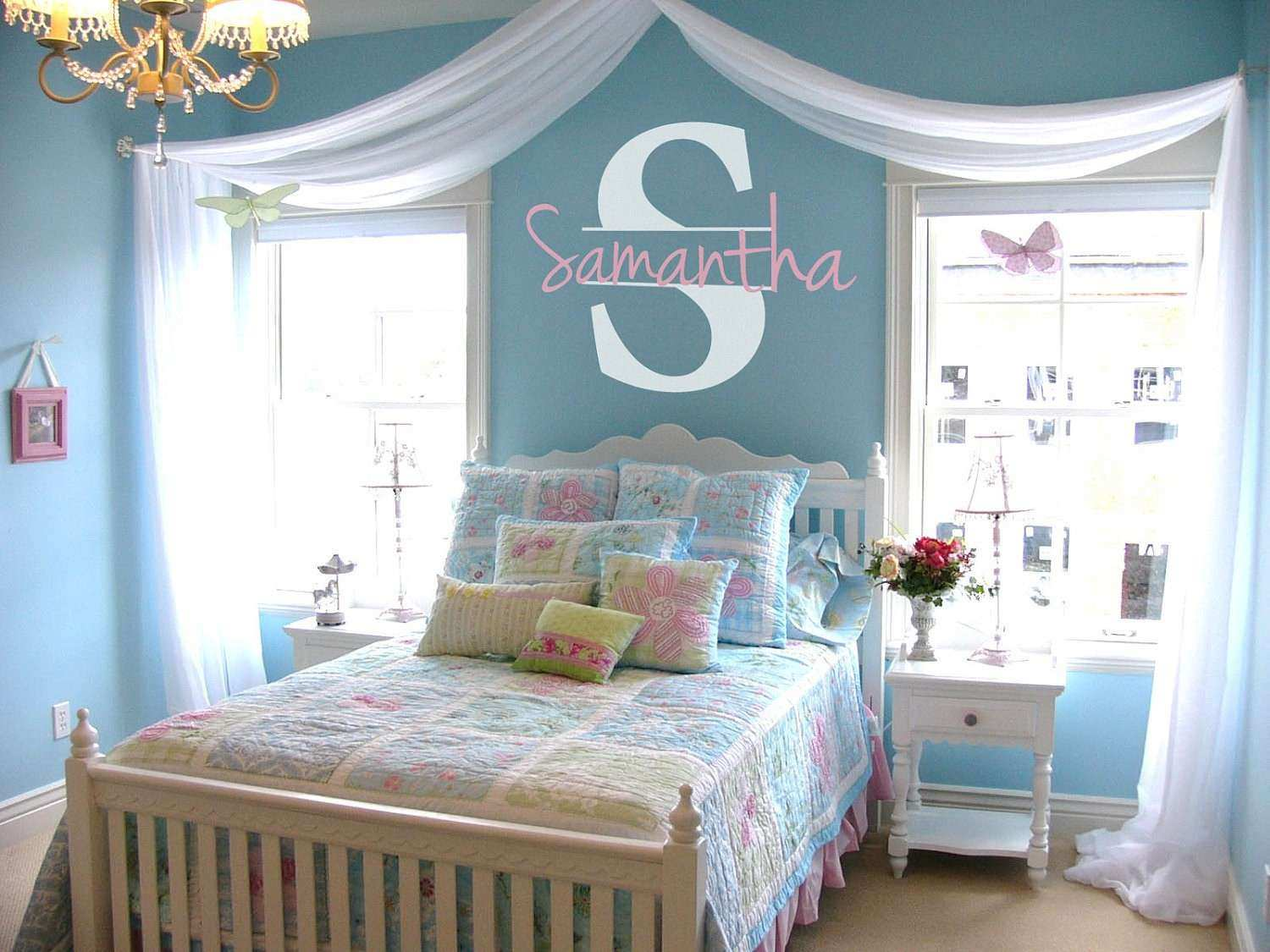 Personalized Name & Initial Vinyl Wall Decal Sticker