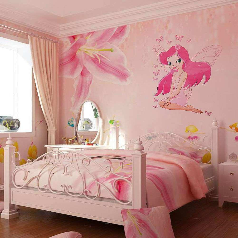 Wall Decor for Kids Room Beautiful Kids Room Fairy Princess butterly Decals Vinyl Art Mural
