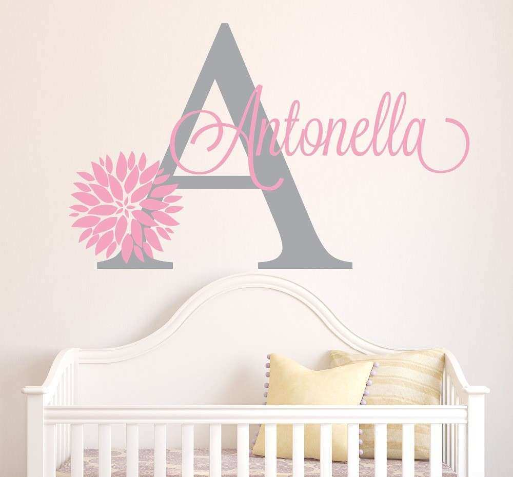 Aliexpress Buy Personalized Flowers Name Wall Decal