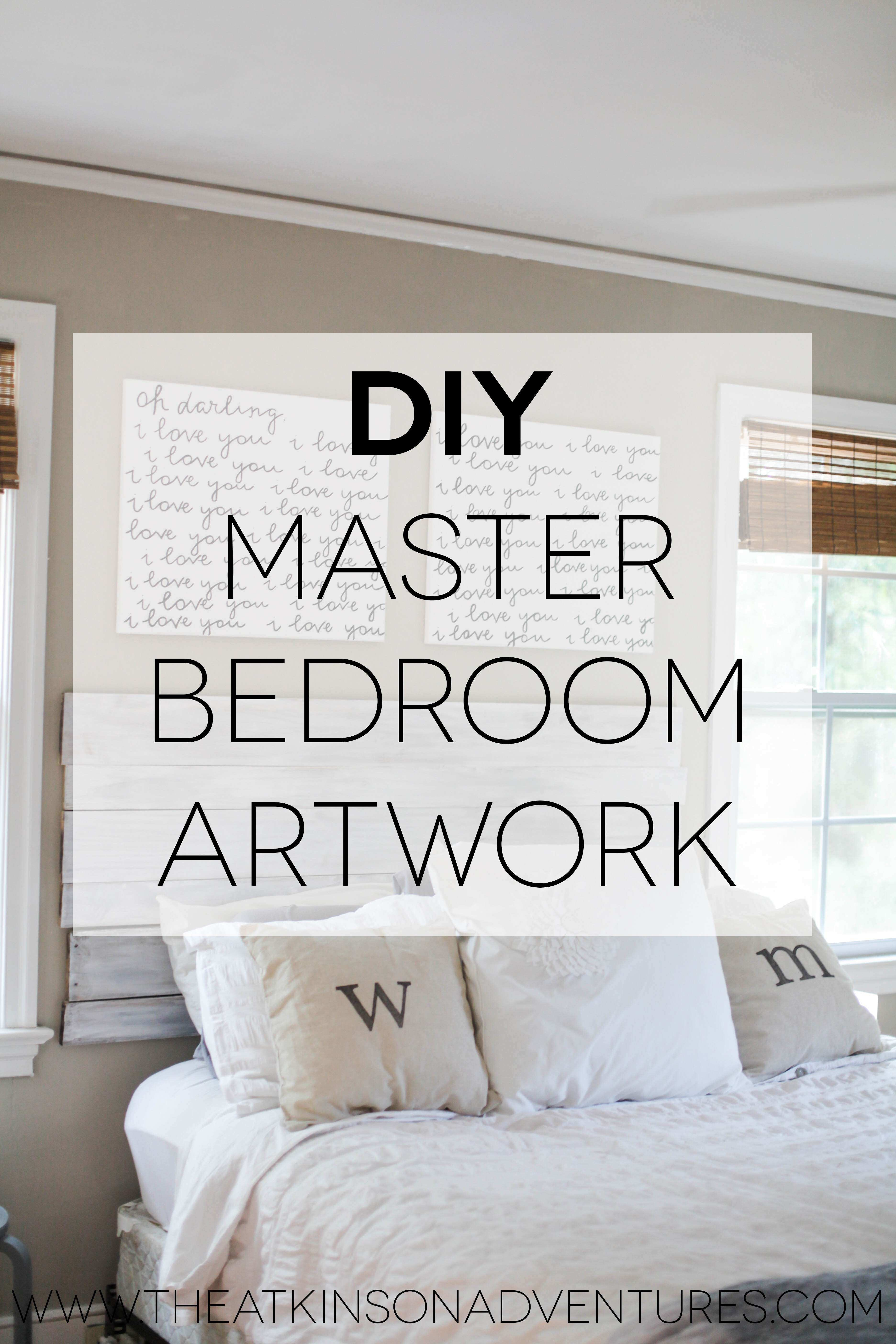 Lovely Wall Decor for Master Bedrooms   Wall Art Ideas