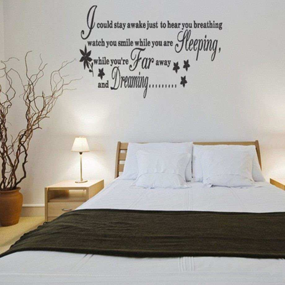 Wall Decor For Master Bedrooms Luxury Master Bedroom Wall Decals Ideas Home  Designs And