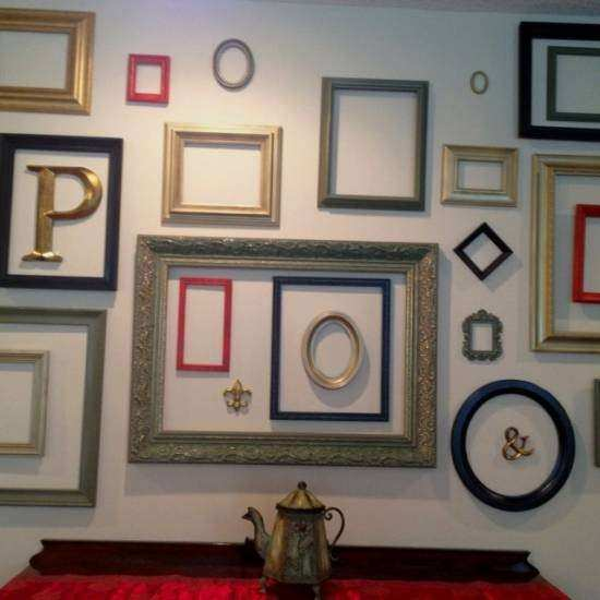 Wall Decor Frame Awesome Use Empty Frames To Decorate Home