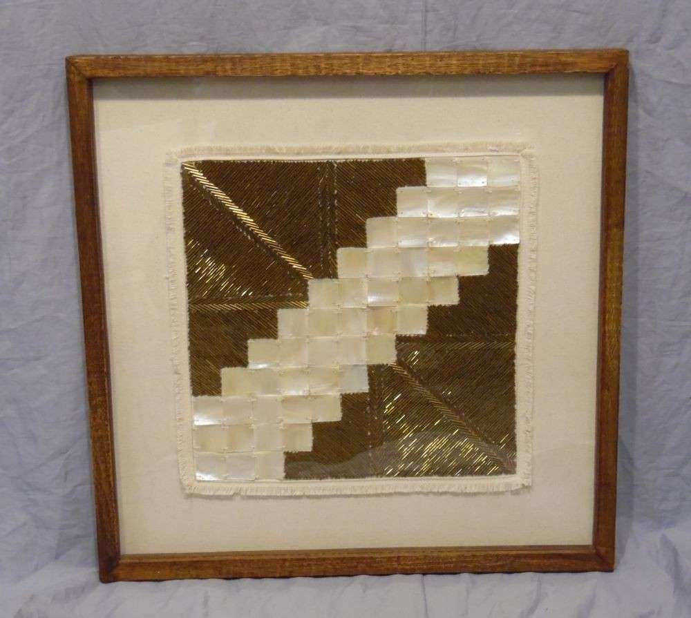 Wall Decor Framed Art Awesome West Elm Diagonal Gold Framed Beaded Wall Art