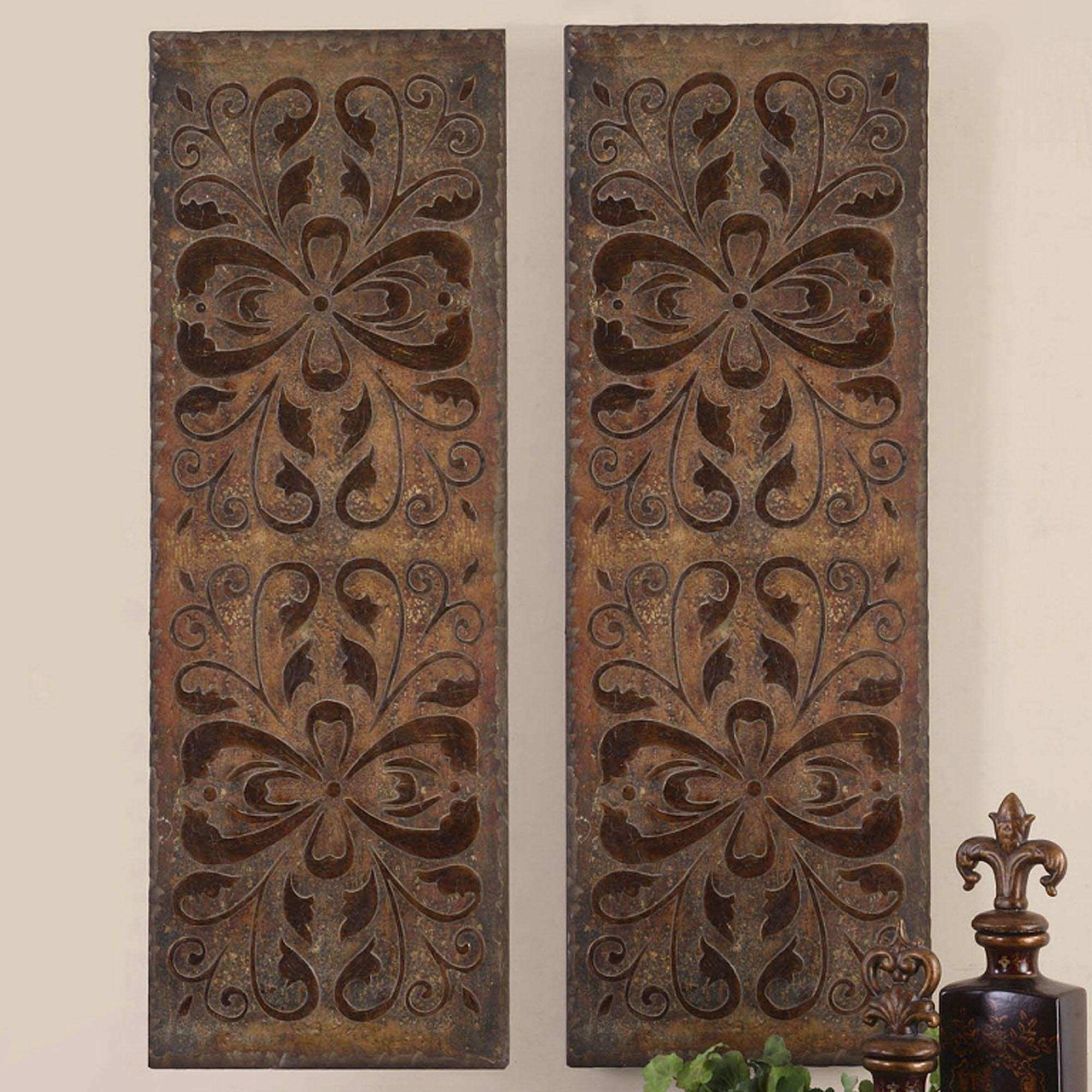 20 s Wood Carved Wall Art Panels