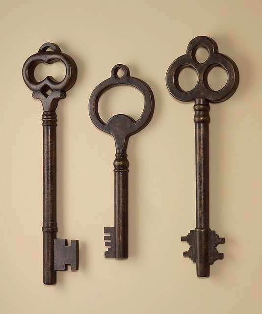 Wall Decor Set Of 3 New Whimsical Key Art Sculptures Farmhouse