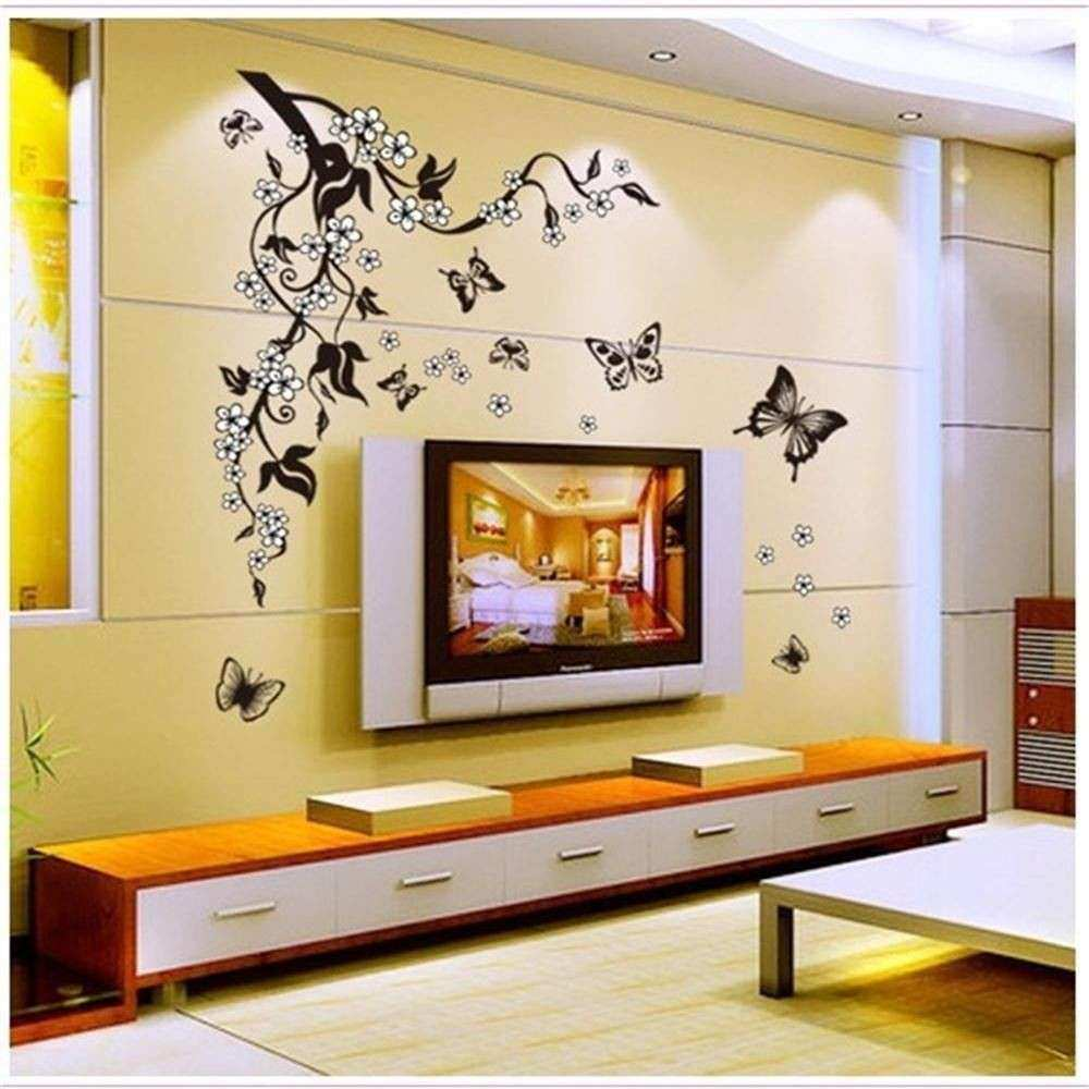Wall Decor Stickers for Bedroom Luxury Removable Black Vinyl ...