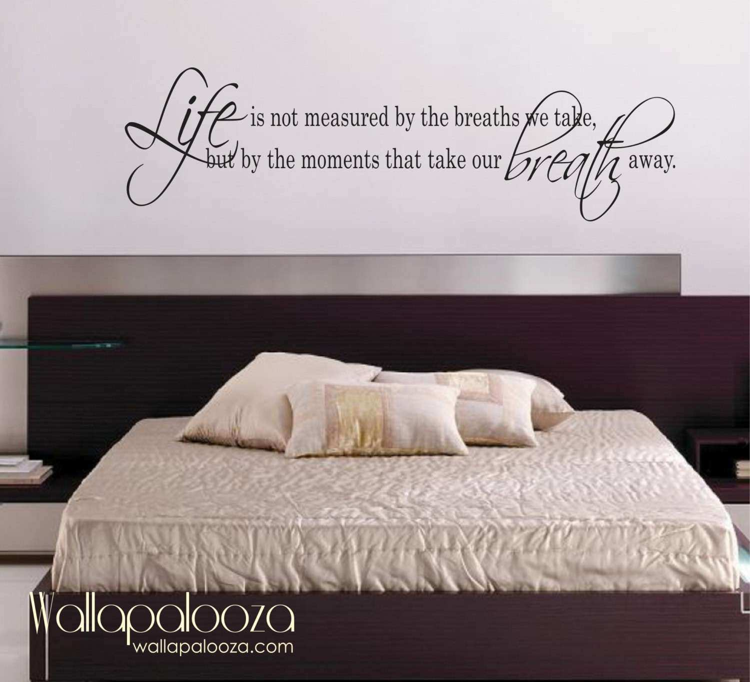 Wall Decor Stickers For Bedroom Unique Life Is Not Measured Wall