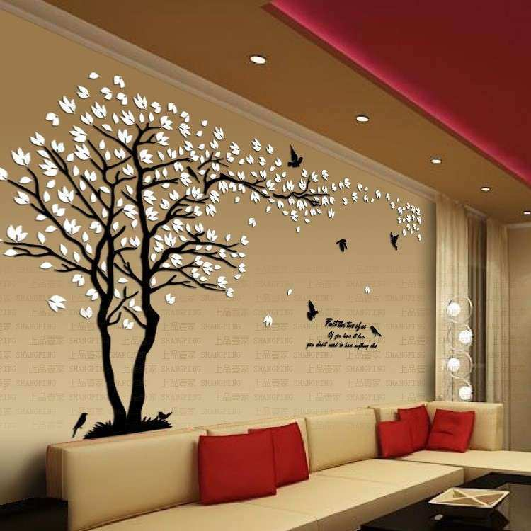 Wall Decor Stickers for Living Room Luxury New Arrival Lovers Tree ...