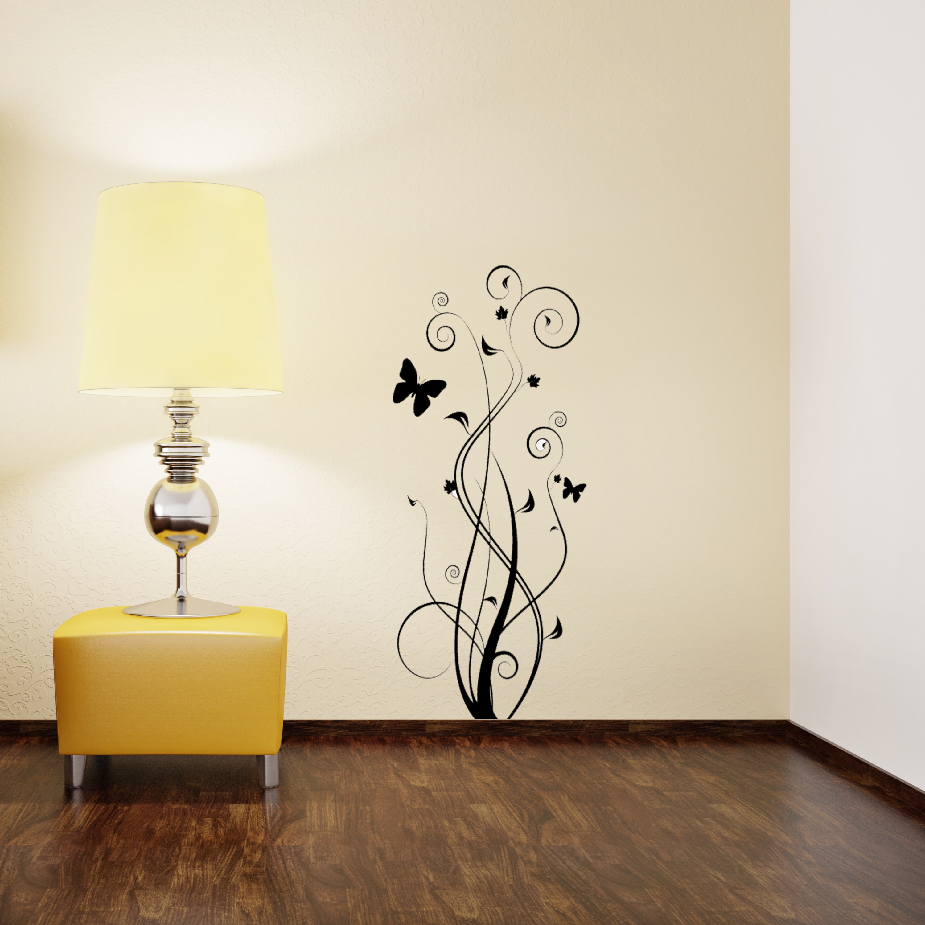 Floral Butterfly Wall Sticker Removable Wall Stickers