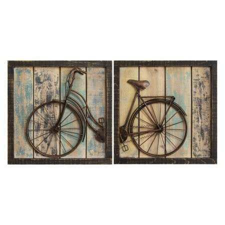 Stratton Home Rustic Bicycle Wall Decor Set of 2