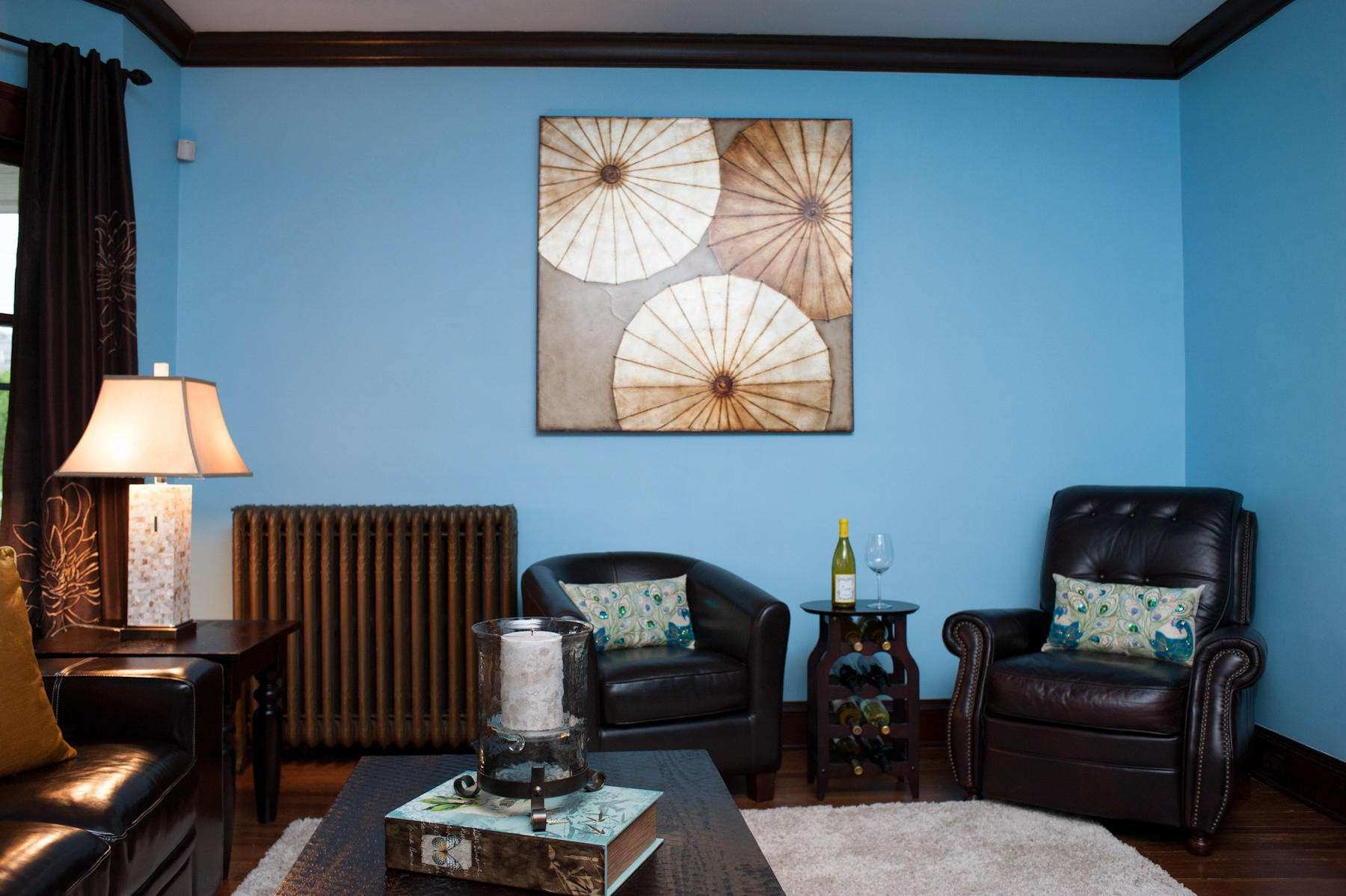 Incredible Blue Living Room Wall Paint Ideas bine With