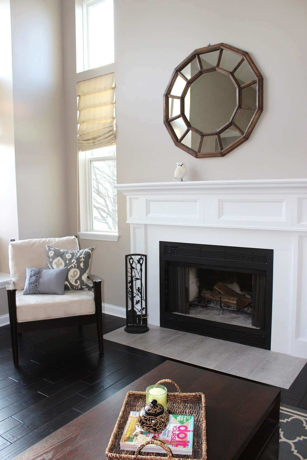 Decoration Decorate Fireplace Using Wall Mirror Ideas