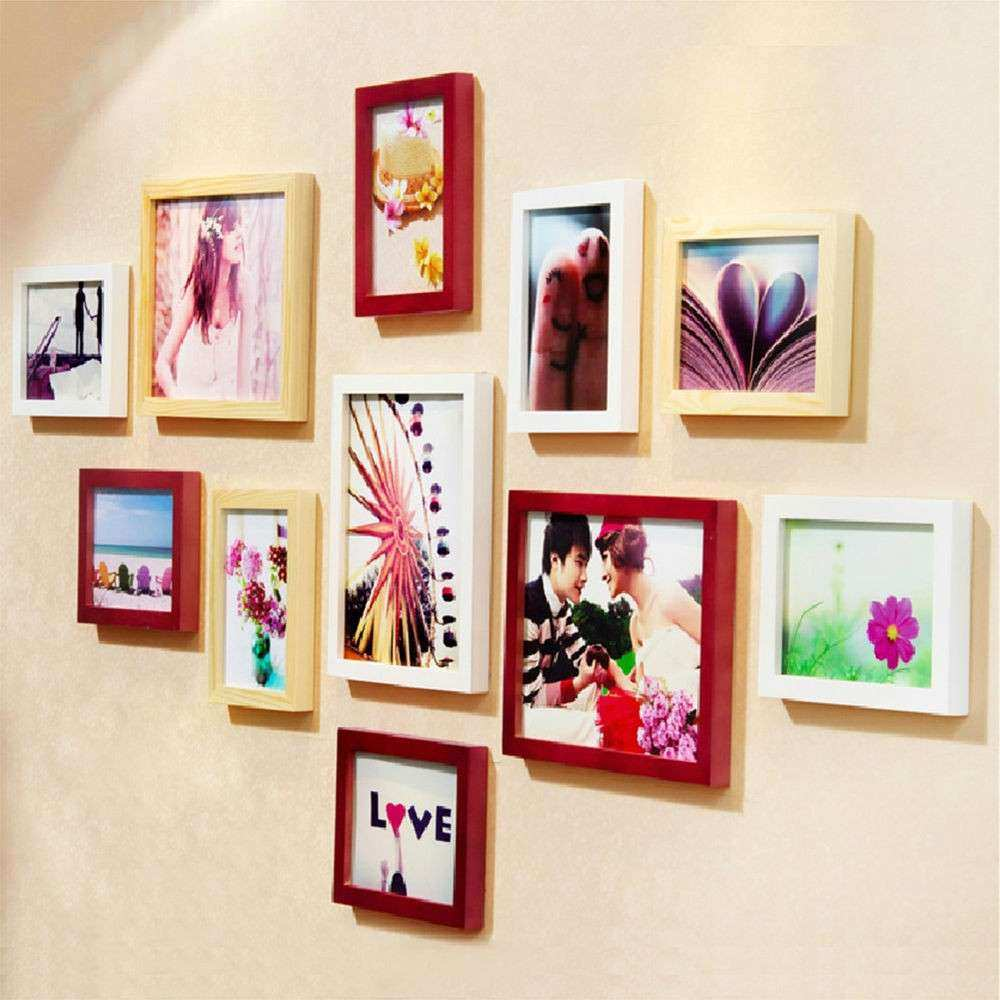 """5""""x7"""" Wood Wall Mounted Picture Frame Wall Home"""