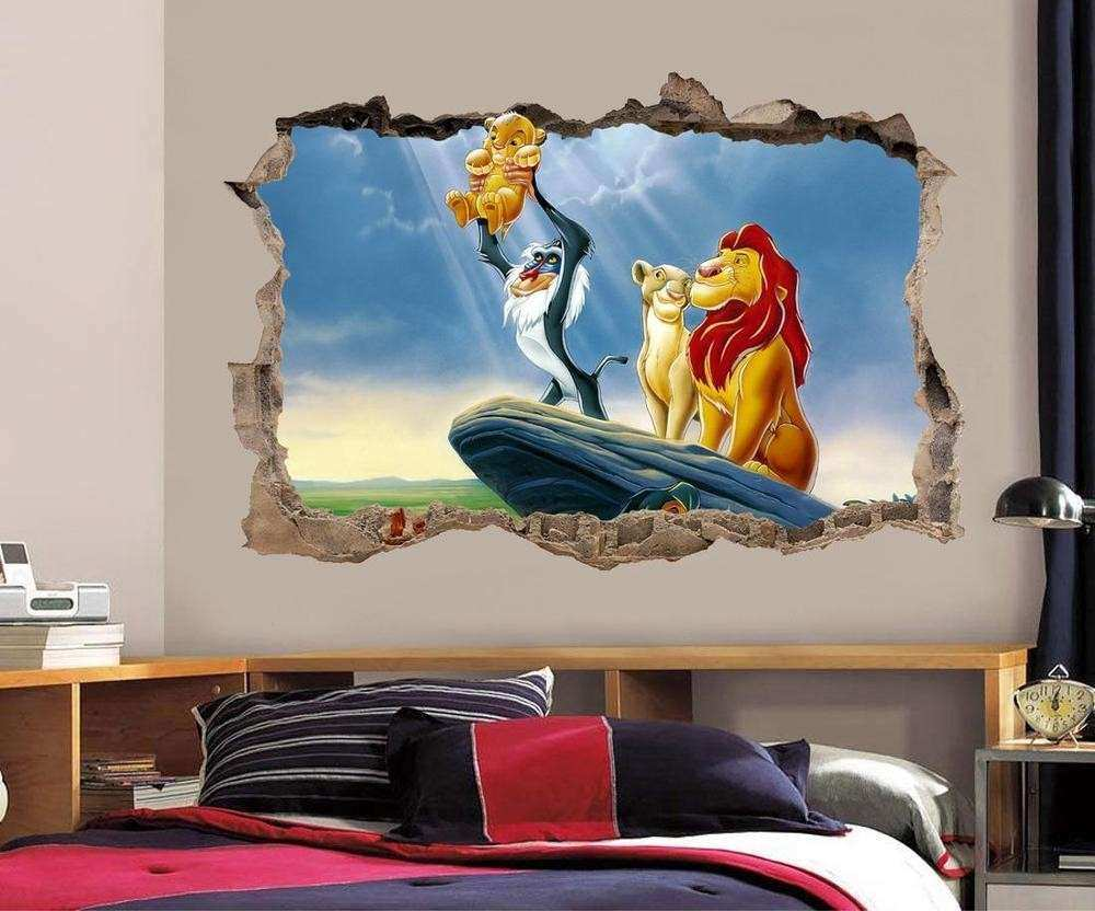 LION KING Simba Smashed Wall Decal Graphic Wall Sticker