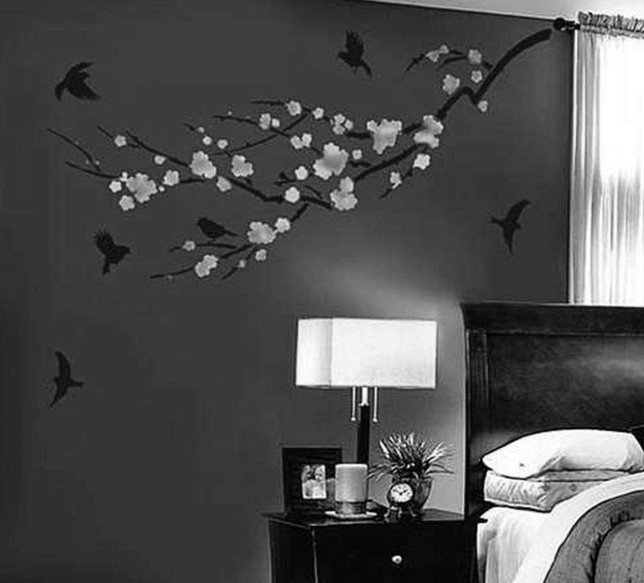 Best Creative Wall Paint Bedroom Image Painting Design Style