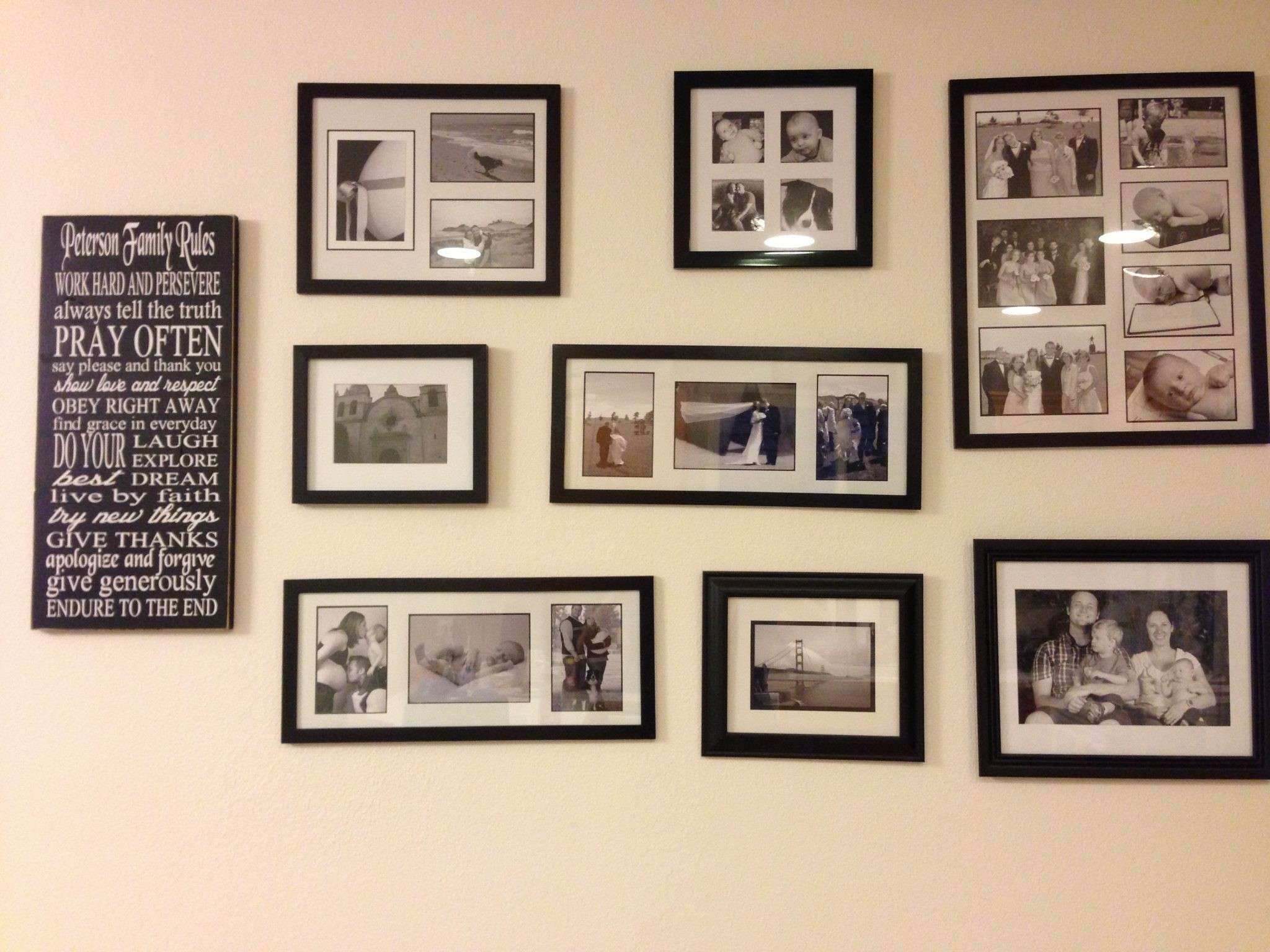Creative Wall Collage Ideas Living Room 45 Concerning Remodel