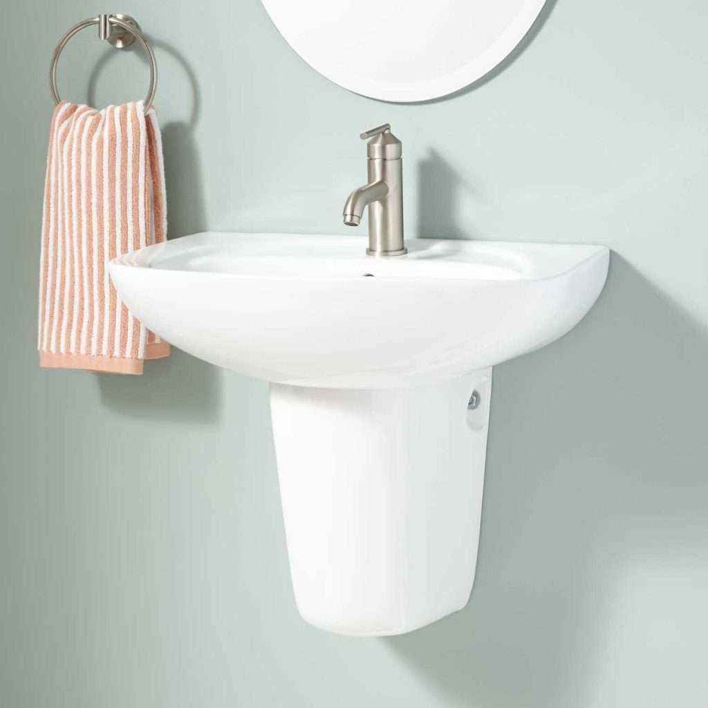 Wall Pictures for Bathroom Awesome Abrams Porcelain Wall Mount Semi Pedestal Sink Bathroom