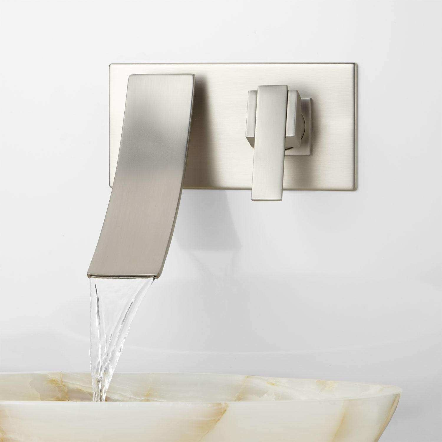 Wall Pictures for Bathroom Best Of Reston Wall Mount Waterfall Bathroom Faucet Bathroom