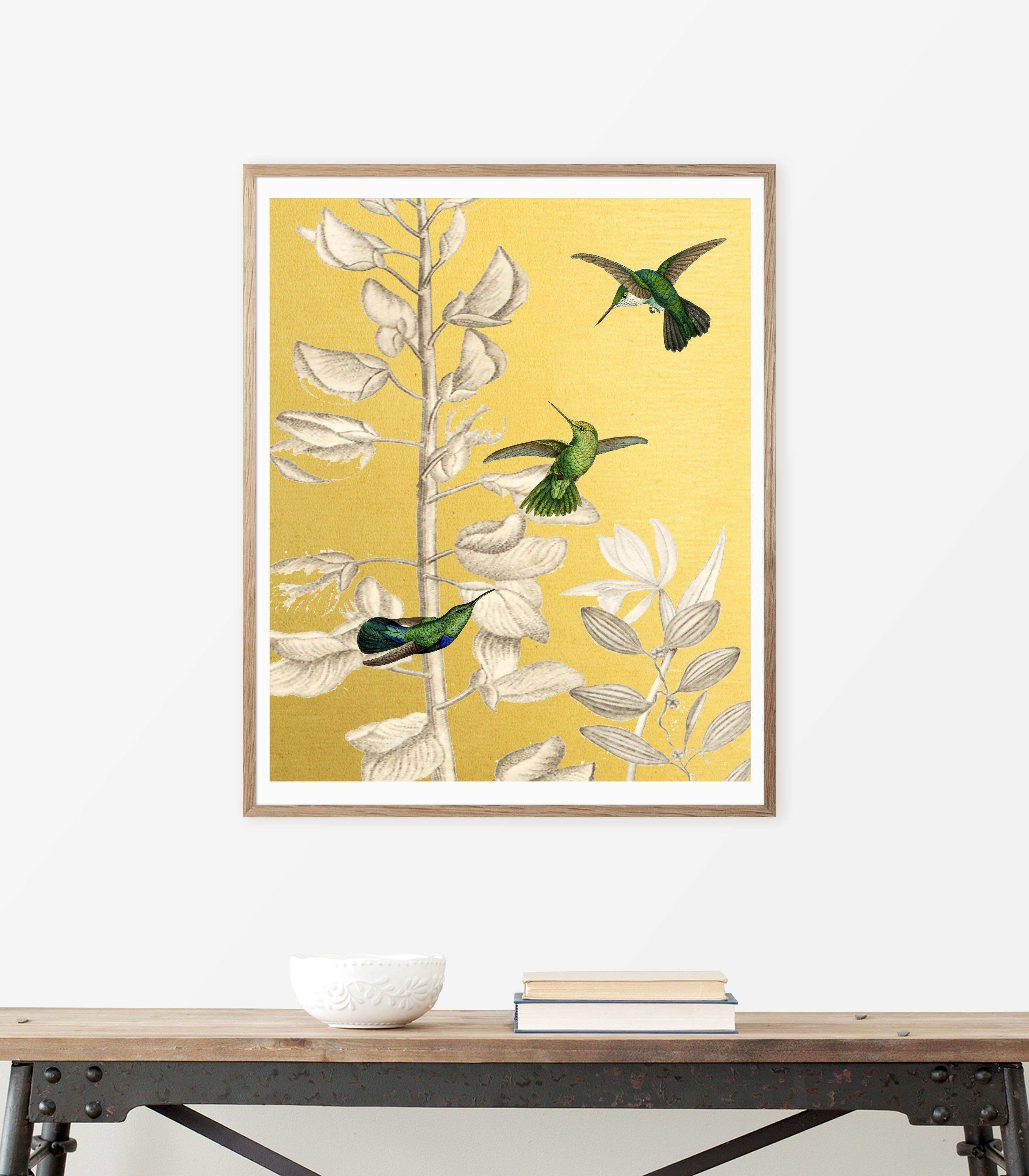 Wall Prints for Bedroom Inspirational Printable Art Humming Birds ...