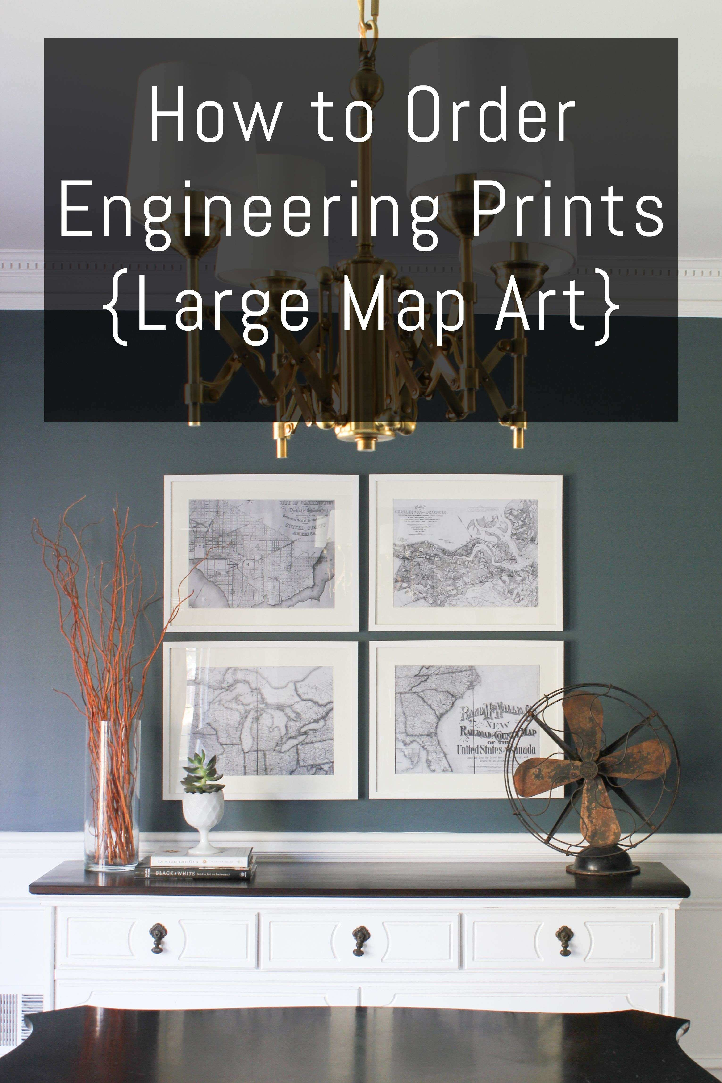 How to Order Engineering Prints Map Art