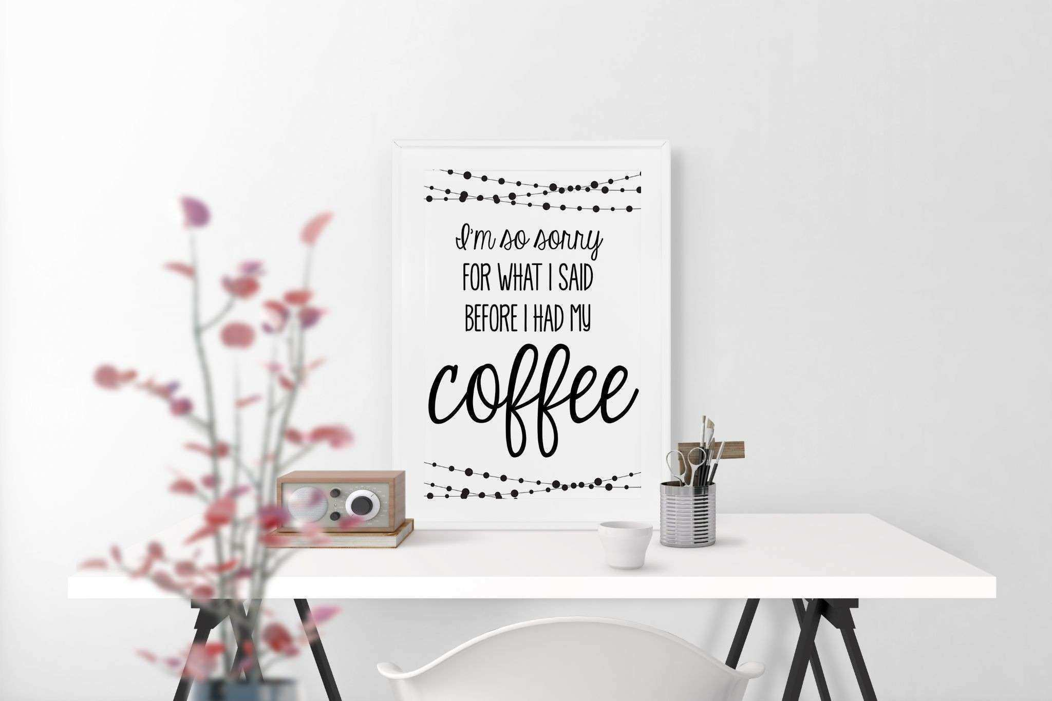 I m So Sorry For What I Said Coffee Design Poster Canvas Print