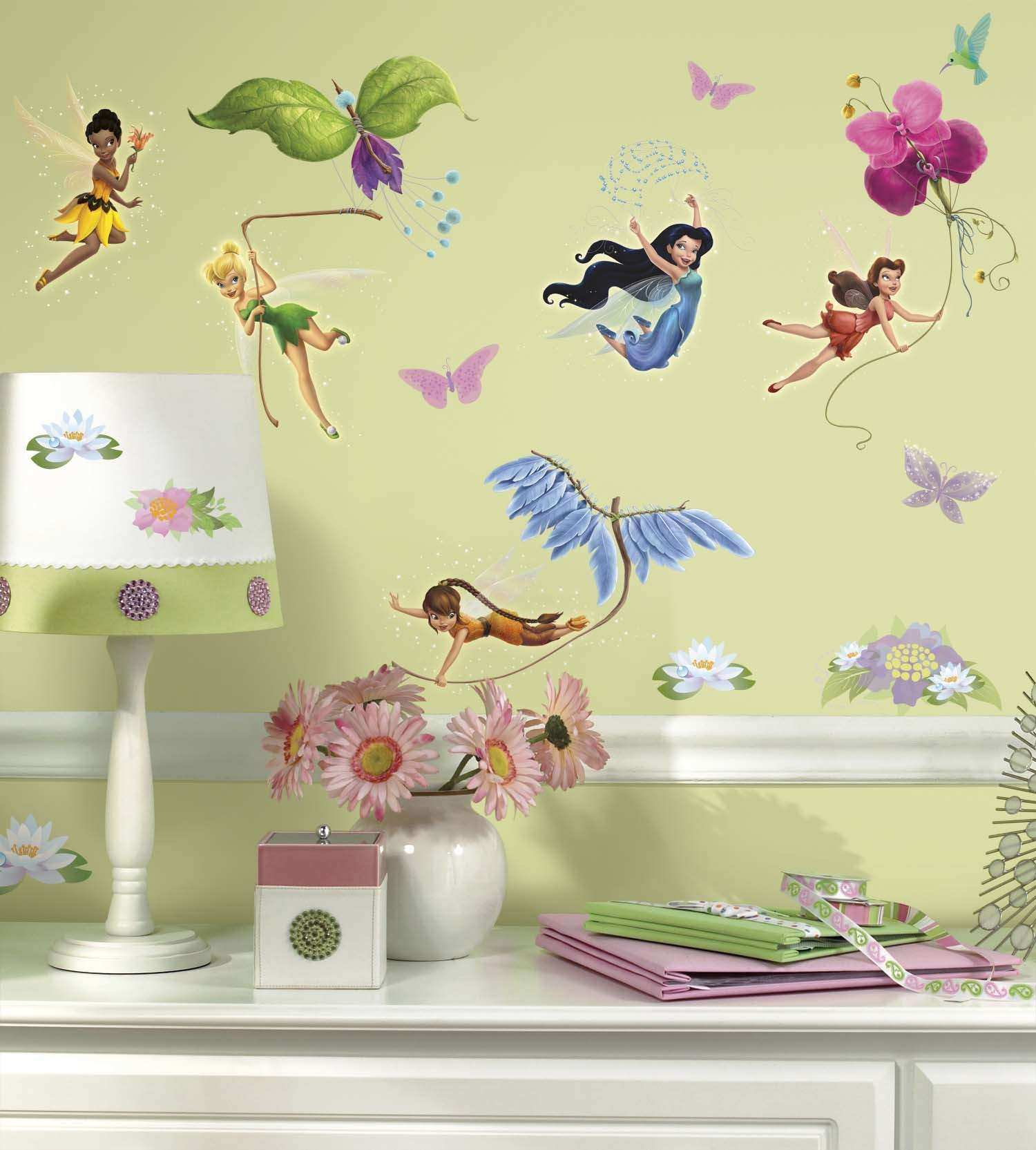 Disney Fairies with Tinkerbell Wall Decals Wall2wall