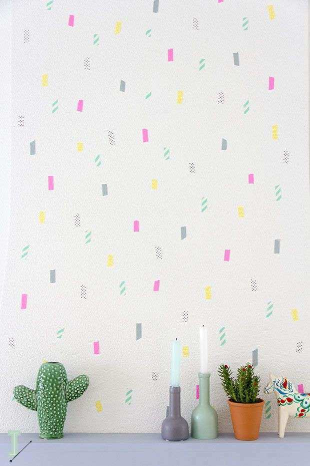 25 best ideas about Washi Tape Wall on Pinterest
