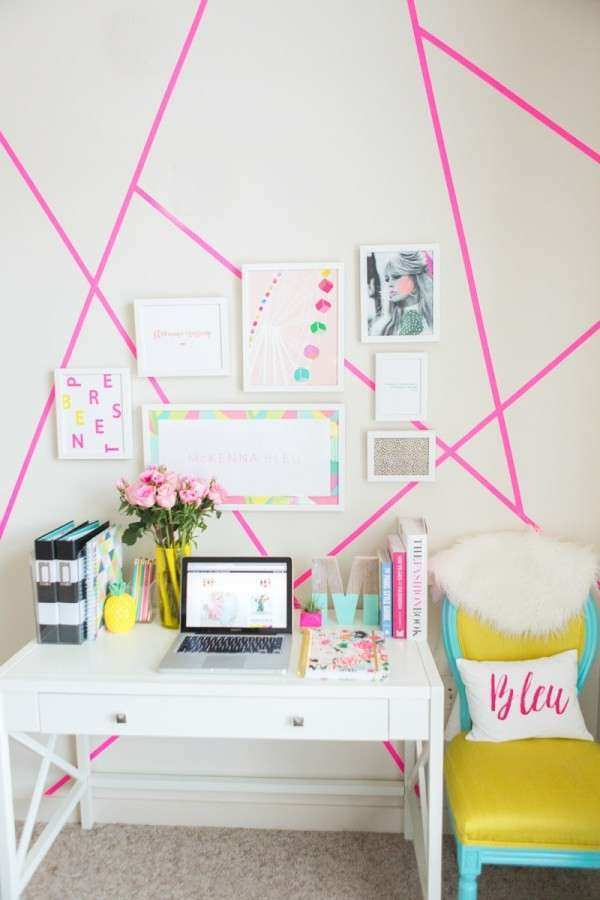 10 Wonderful Washi Tape Wall Decor Ideas That Look Amazing