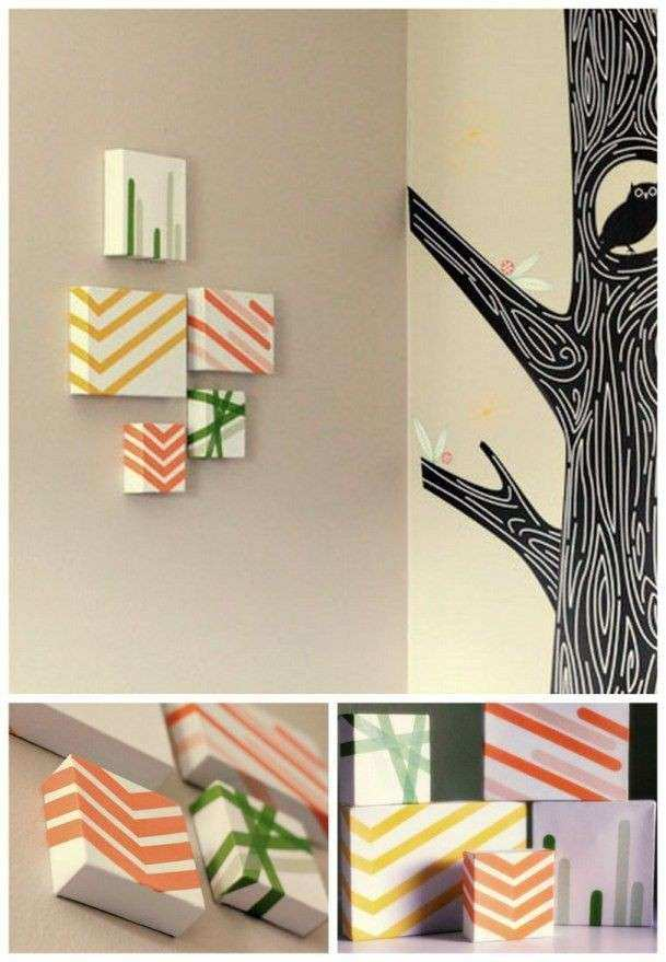 26 best images about Masking Tape Wall Art on Pinterest