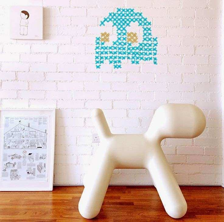 PacMan washi tape wall art Kids Pinterest