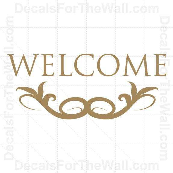 Wel e Entryway Entry Wall Decal Vinyl Art Sticker Quote