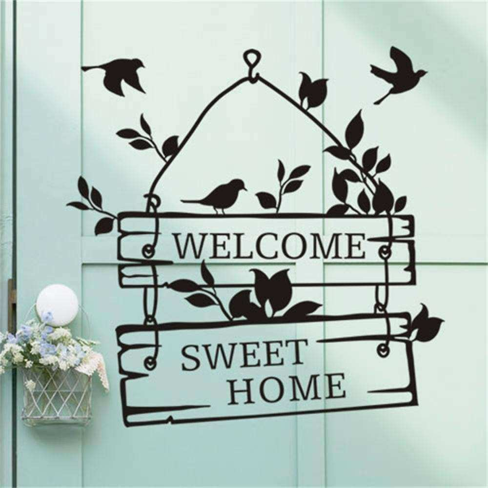 Removable Wel e Sweet home Quote Wall Sticker Art Vinyl