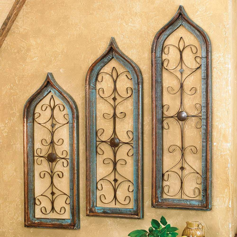 Western Wall Decor Awesome Distressed Turquoise Window Wall Hangings ...
